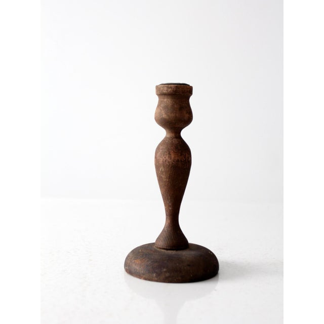 Antique Wooden Candle Holder - Image 2 of 6