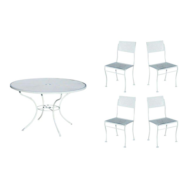Mid-Century Russell Woodard Steel Outdoor/Patio Furniture For Sale