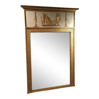19th Century French Empire Trumeau Mirror For Sale