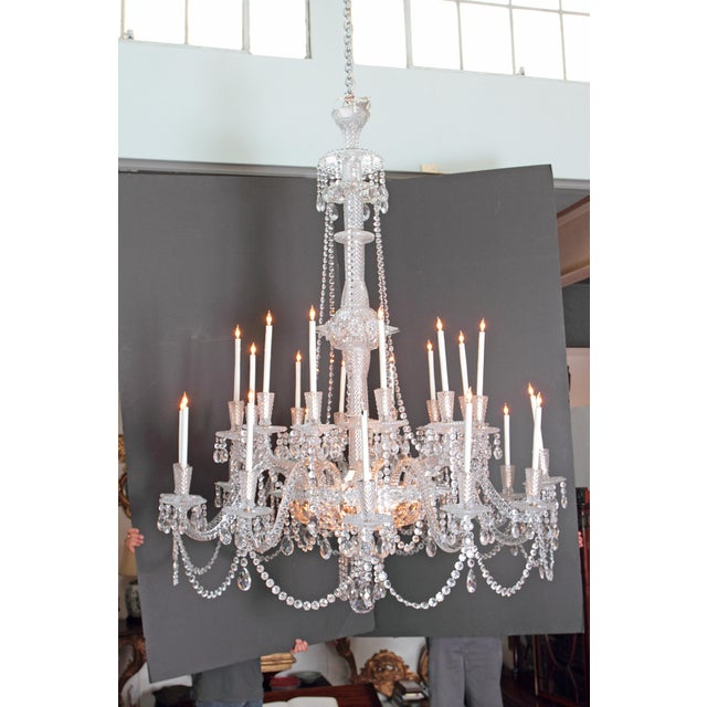 A pair of beautiful grand-scale and well-appointed cut-crystal and silver plate Georgian-style / mid-Victorian...