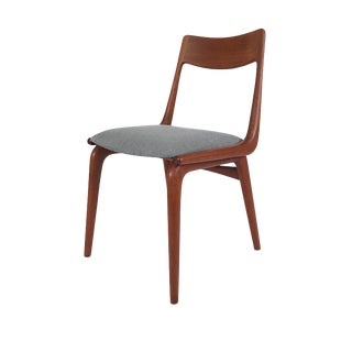 Vintage Erik Christensen for Slagelse Mobelfabrik Danish Teak Boomerang Chair For Sale