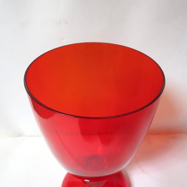 Early 21st Century Red Murano Glass Urns by Fabio Ltd (2 Available) For Sale - Image 5 of 7