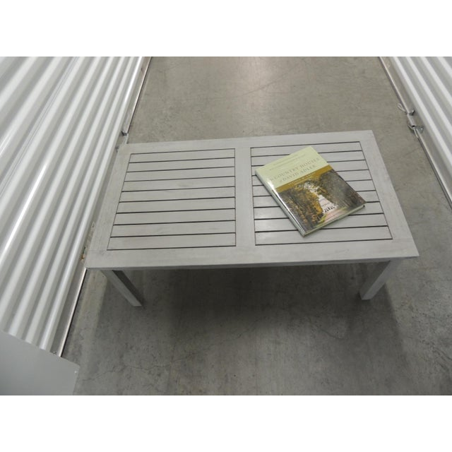 2010s Outdoor Safavieh Weathered Finish Coffee Table For Sale - Image 5 of 8