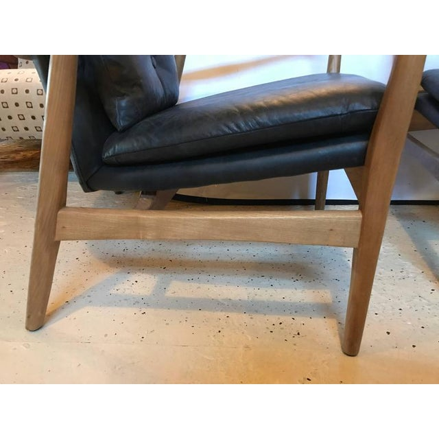 Mid 20th Century Danish Modern Leather Armchairs - A Pair For Sale - Image 5 of 11