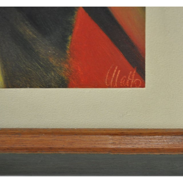 Abstract 1960's Ulatto Mid Modern Abstract Painting For Sale - Image 3 of 5