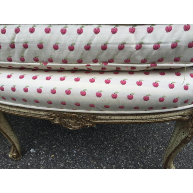 Mid 20th Century Vintage Mid Century French Style Bergere Chairs- a Pair For Sale - Image 5 of 12