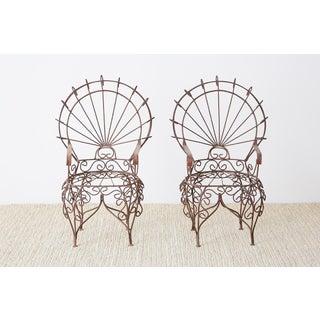 Pair of Salterini Iron Peacock Salesman Sample Chairs Preview