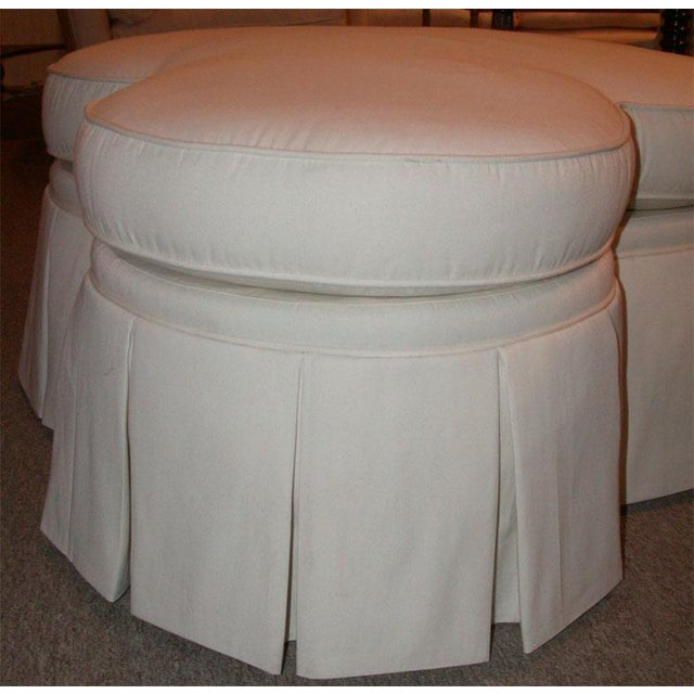 Ivory Clover Shaped Ottoman or Coffee Table - Image 3 of 8