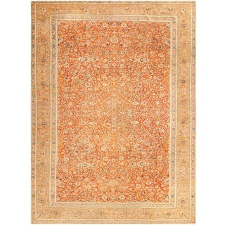 Antique Persian Tabriz Haji Jalili Carpet - 9′6″ × 12′6″ For Sale