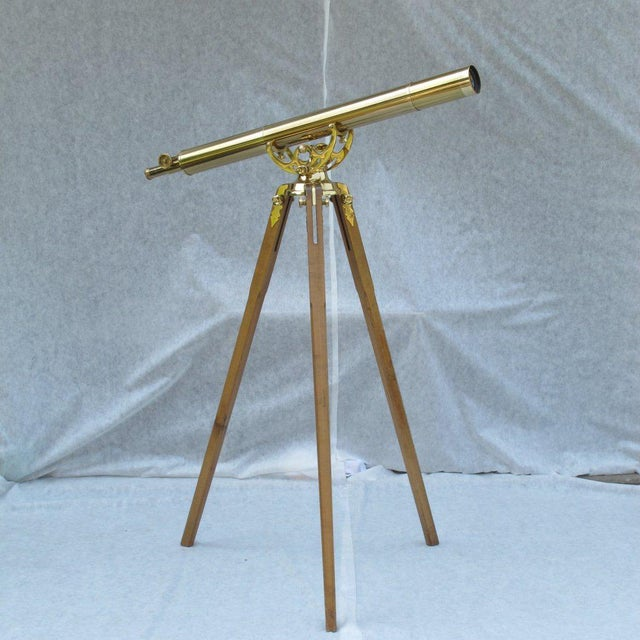 20th Century English Traditional Baush & Lomb Brass Telescope For Sale - Image 11 of 11