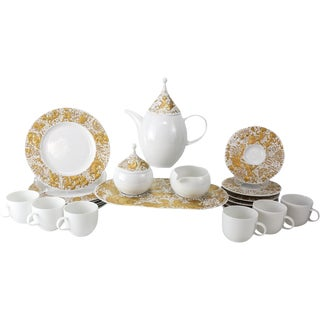 16-Piece Rosenthal Studio Line Gilt Magic Flute Tea Service for 6 by Bjorn Wiinblad