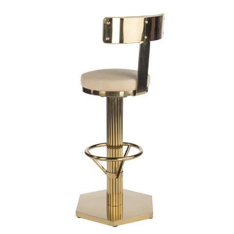 Hollywood Regency Hollywood Regency Oscar Gold Bar Chair For Sale - Image 3 of 5