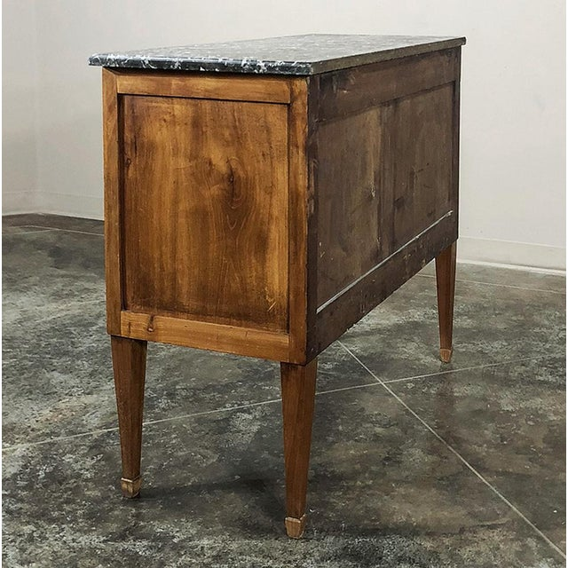 Late 19th Century 19th Century French Louis XVI ~ Directoire Style Marble Top Commode For Sale - Image 5 of 13
