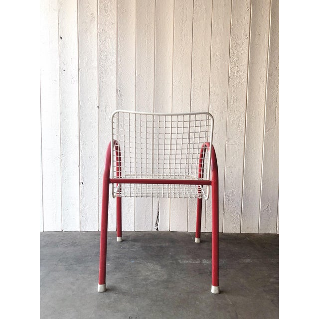 80's Vintage Designer Arc Grid Patio Chairs For Sale - Image 4 of 12