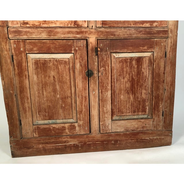 Wood 19th Century New England Country Corner Cupboard C. 1840 For Sale - Image 7 of 13