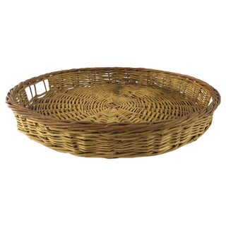 Round Woven Tray Basket For Sale