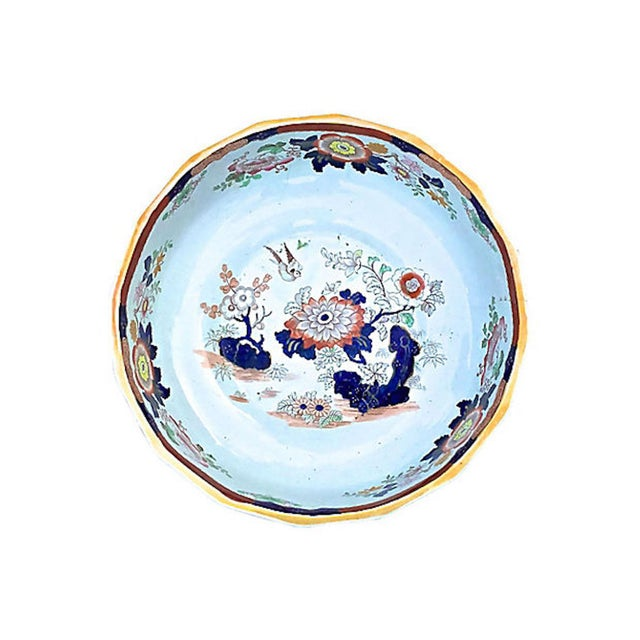 19th Century Antique Ironstone Floral Basin & Pitcher - a Pair For Sale - Image 5 of 11