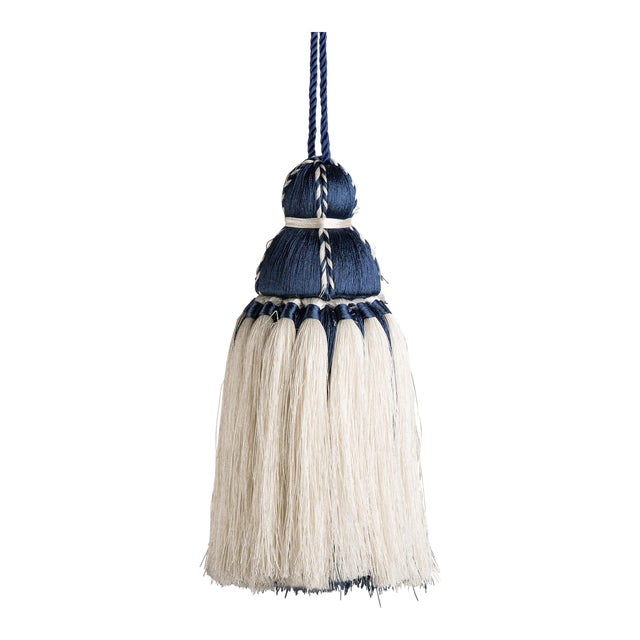 Navy & White Tassel, Medium For Sale