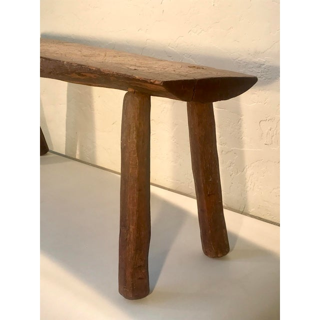 Coffee Antique Primitive Live Edge Coffee Table For Sale - Image 8 of 11