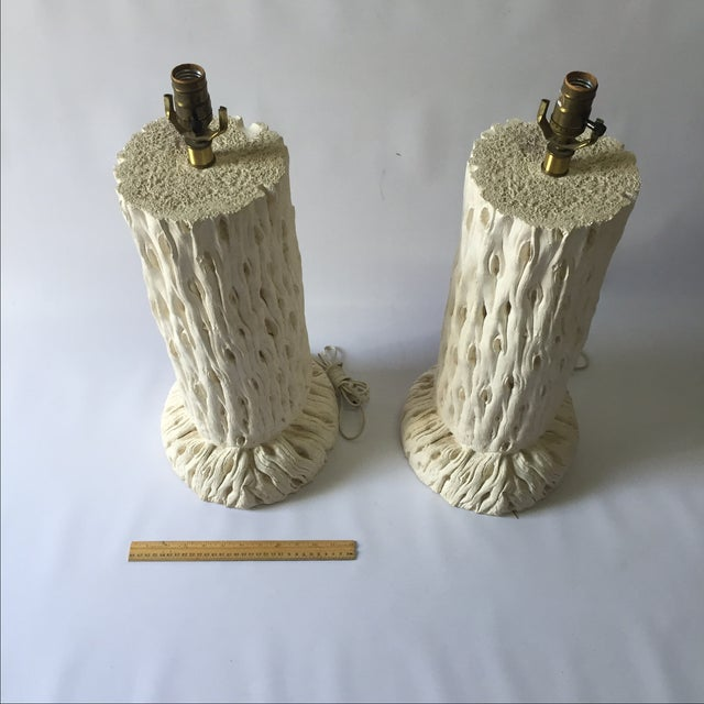 John Dickinson Style Tree Trunk Lamps - A Pair For Sale - Image 5 of 7