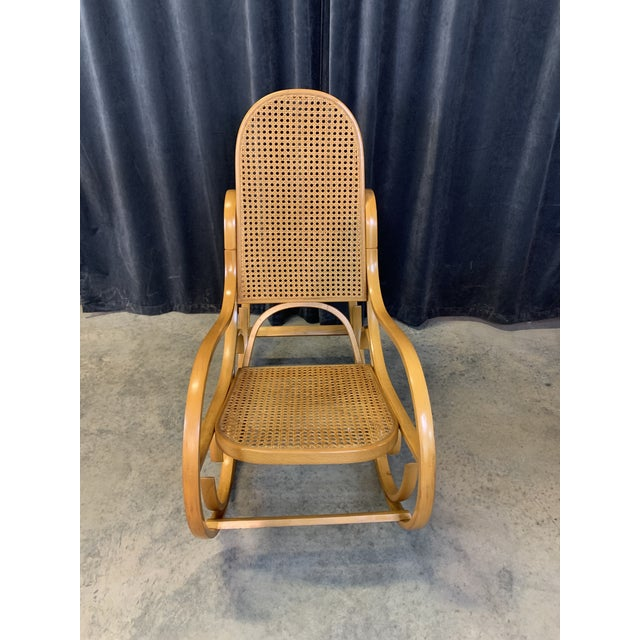Mid-Century Modern Vintage Mid Century Crassevig Bentwood Rocking Chair For Sale - Image 3 of 7