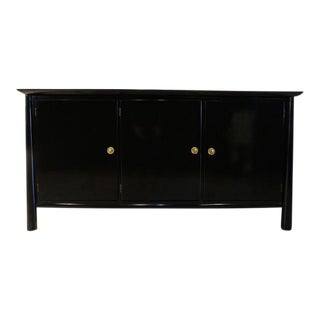 Mid Century Lacquered 3 Door Cabinet For Sale
