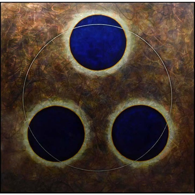 2000 - 2009 Aryen Hart Dream Time II Pigment and Polymer on Steel Hand Signed Abstract Art For Sale - Image 5 of 5
