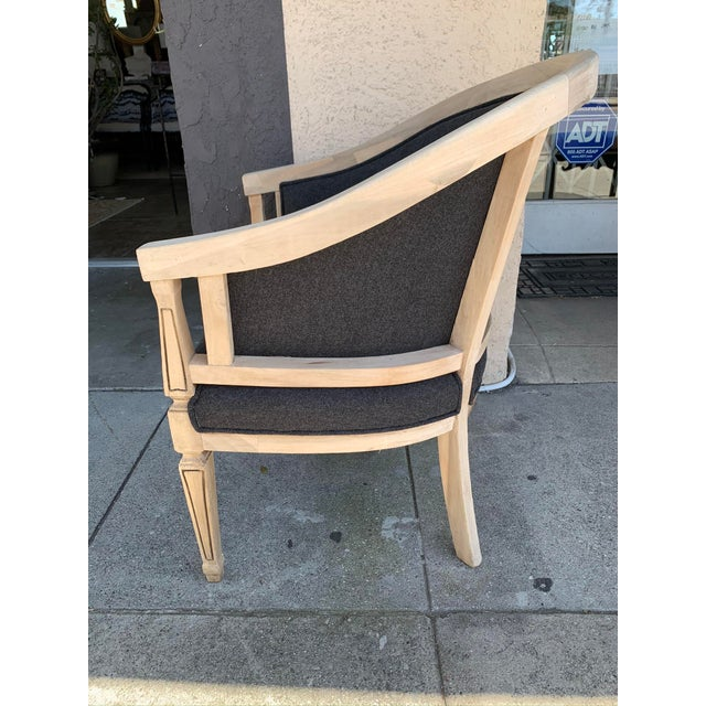 American Vintage Oak Arm Chair For Sale - Image 3 of 5