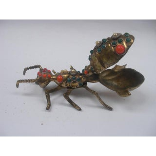 Antique Bejeweled Brass Ant Ashtray Preview