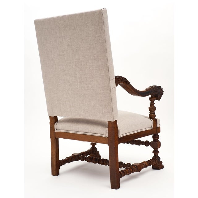 Louis XIII Style French Armchairs For Sale - Image 9 of 10