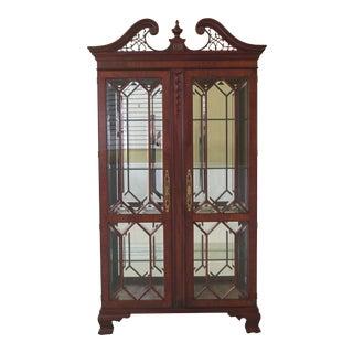Henkel Harris Model #2348 Mahogany Curio Display Cabinet For Sale