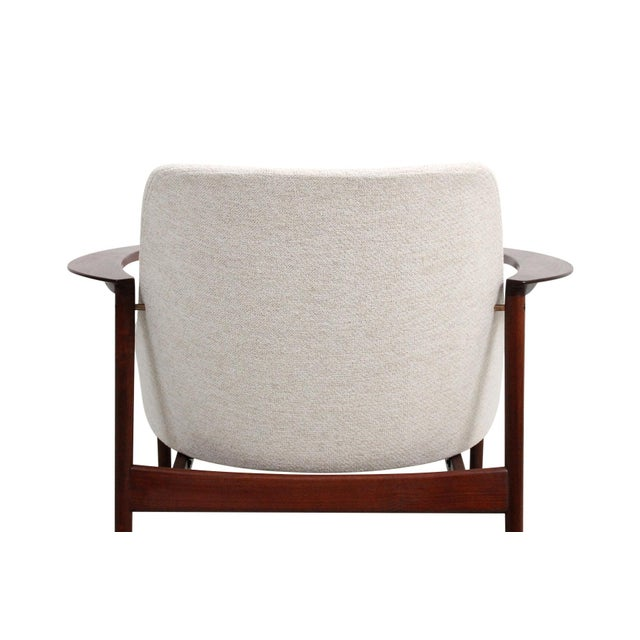 Kofod-Larsen for Selig Sculptural Walnut Lounge Chairs - a Pair For Sale - Image 12 of 13