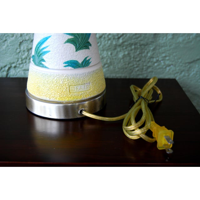 Vintage f.a.i.p. Tropical Chalkware Lamp W/ Custom Shade - Image 5 of 11