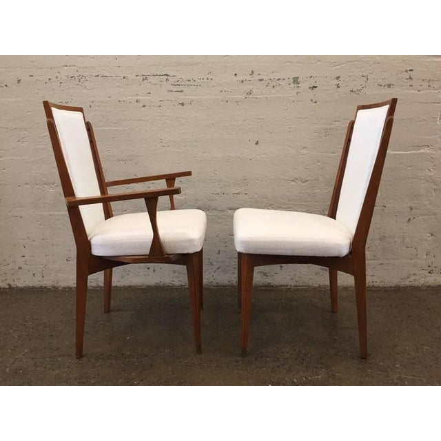 Set of Six Walnut Italian Dining Chairs - Image 2 of 8