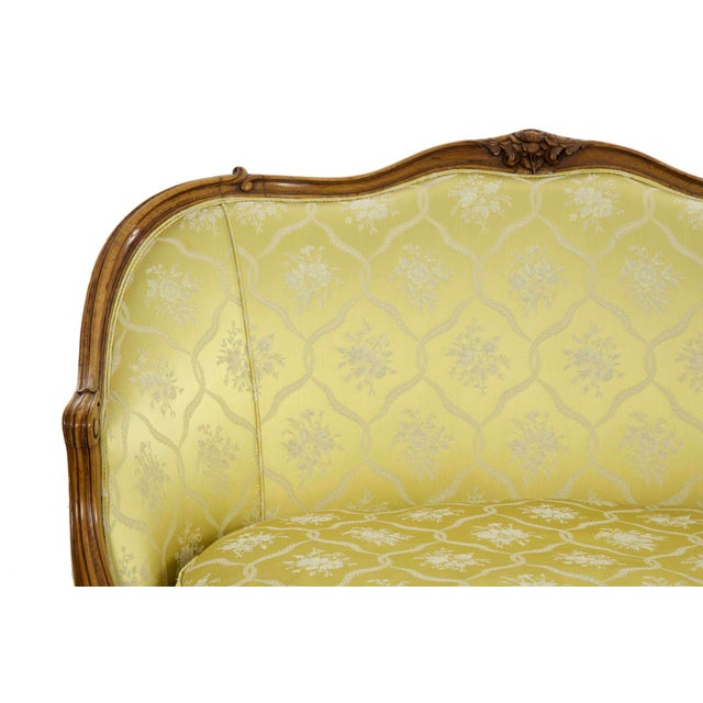 Fabric 19th Century French Antique Canapé Sofa Settee in Louis XV Style For Sale - Image 7 of 13