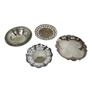 Vintage Silverplate Serving Pieces - Set of 4 For Sale