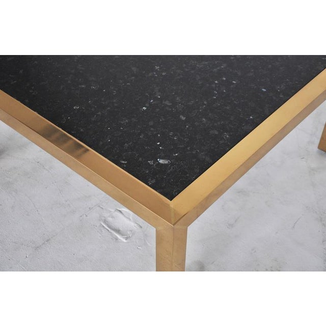 Brass and Stone Coffee Table, circa 1970 For Sale - Image 5 of 5