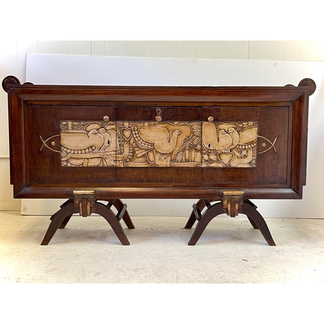 French Art Deco Bar Cabinet With Mirrored Interior For Sale - Image 13 of 13