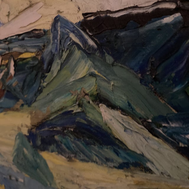 Wood 1960s Seascape Painting, Framed For Sale - Image 7 of 9