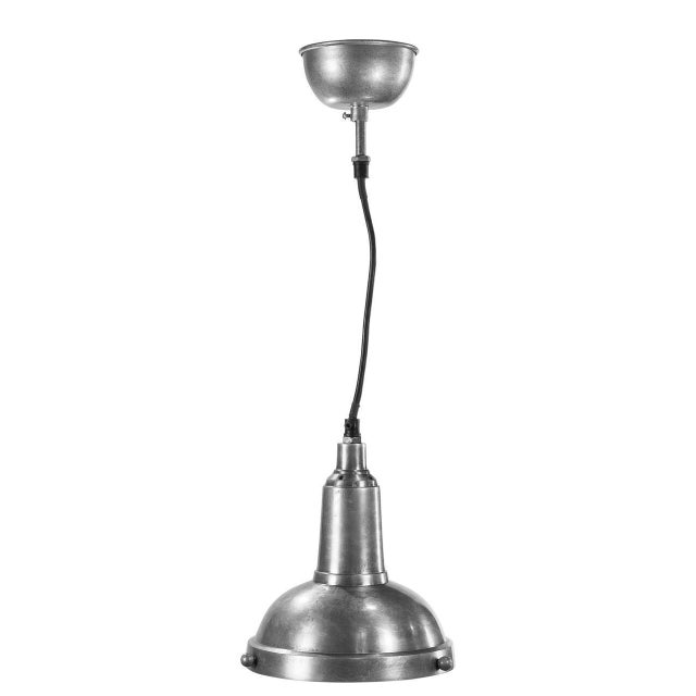 Estimated Retail Price: $234. The 'Balder' hanging lamp is made from aluminum, iron, and glass. This piece is U.L. listed....