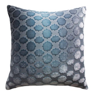 Dusk Mod Fretwork Velvet Pillow