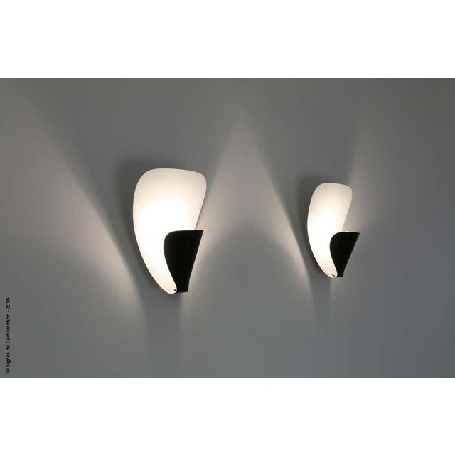 Michel Buffet 'B206' Black and White Wall Lamp For Sale In Los Angeles - Image 6 of 11