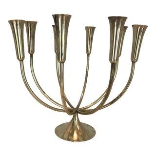 1950s Mid-Century Modern Danish Illhums Bolighus Brass Candelabra For Sale