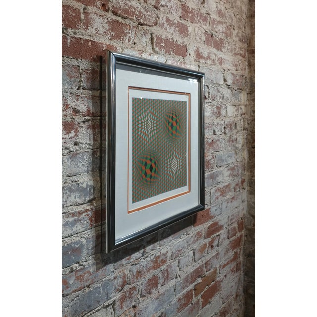 Victor Vasarely - Geometric Abstract - Signed Vintage Serigraph For Sale - Image 9 of 10
