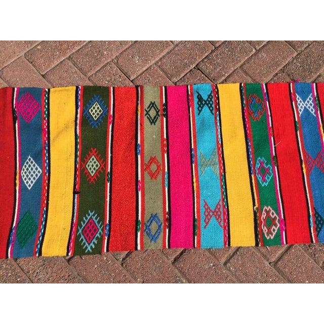 Modern Colorful Turkish Kilim Rug For Sale - Image 3 of 9
