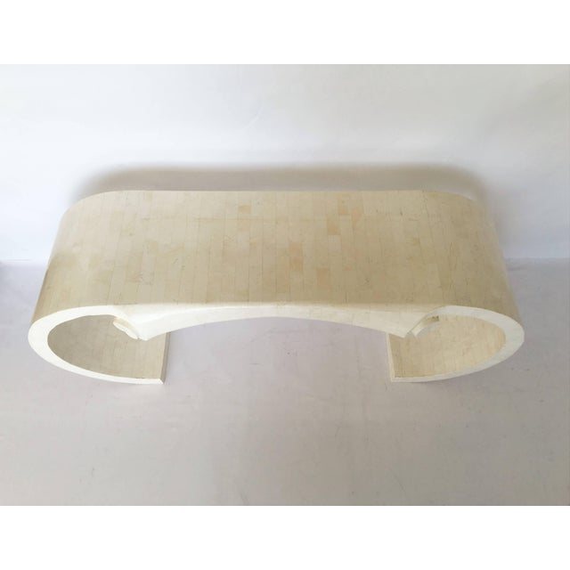 Mid-Century Modern Maitland-Smith Tessellated Fossil Stone Console For Sale - Image 3 of 6
