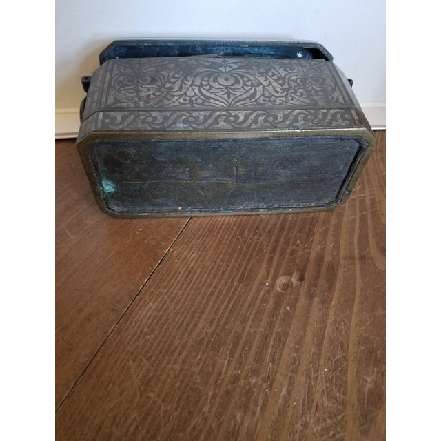 Antique Bronze and Silver Betel Box For Sale - Image 9 of 11