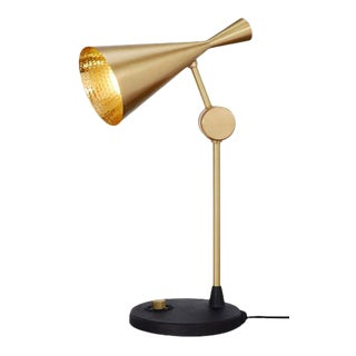 Tom Dixon Beat Table Lamp in Brass For Sale