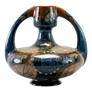 Mid Century Denmark Signed Art Pottery Vase For Sale