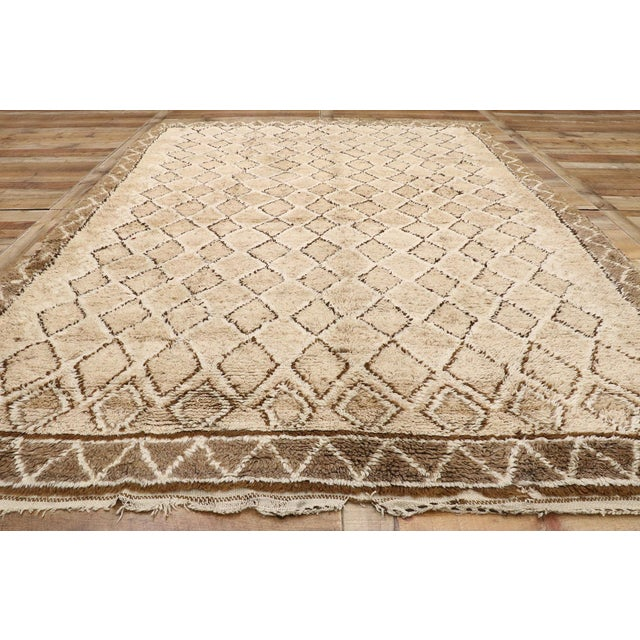 Textile Vintage Berber Moroccan Rug With Earth-Tone Colors - 7'1 X 9'8 For Sale - Image 7 of 10